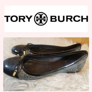 TORY BURCH VERBENA SMOKE ROCCO BALLET FLAT SHOES